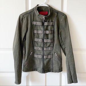 Tripp NYC Distressed Military Jacket